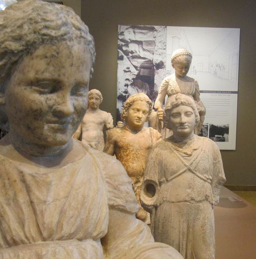 Statues of children from the sanctuary of Artemis at Brauron, Attica, site of an ancient orphanage