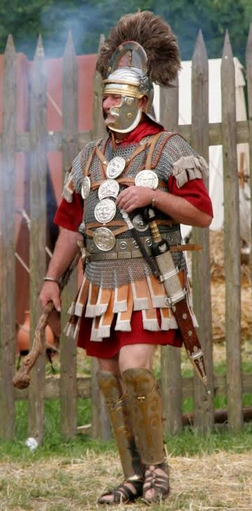 Re-enactor dressed as a Centurion (Wikimedia Commons)