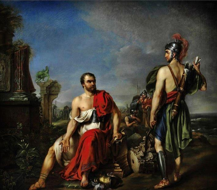Gaius Marius among the ruins of Carthage (Joseph Verner 18th century)