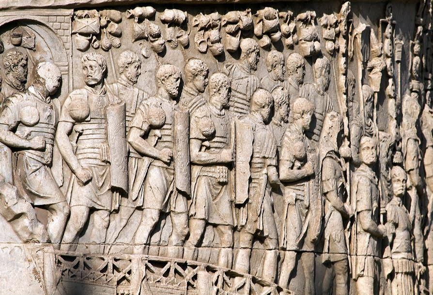 Roman legionaries on Trajan's column