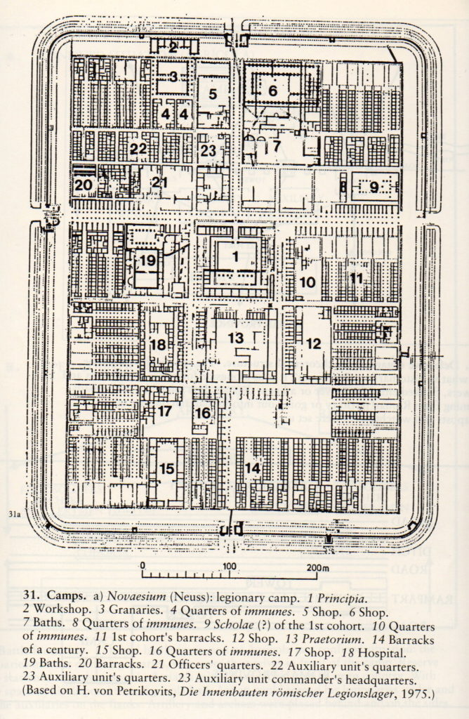 Plan of a typical legionary fortress (FromThe Imperial Roman Army by Yann Le Bohec)