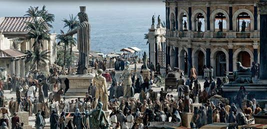 Alexandrian street scene in movie Agora