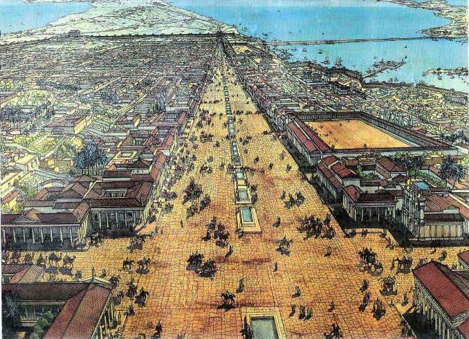 Alexandria's Canopic Way (artist impression)