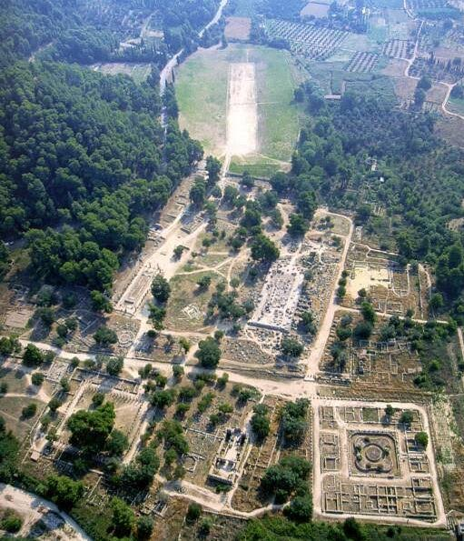 Ancient Olympia Aerial View