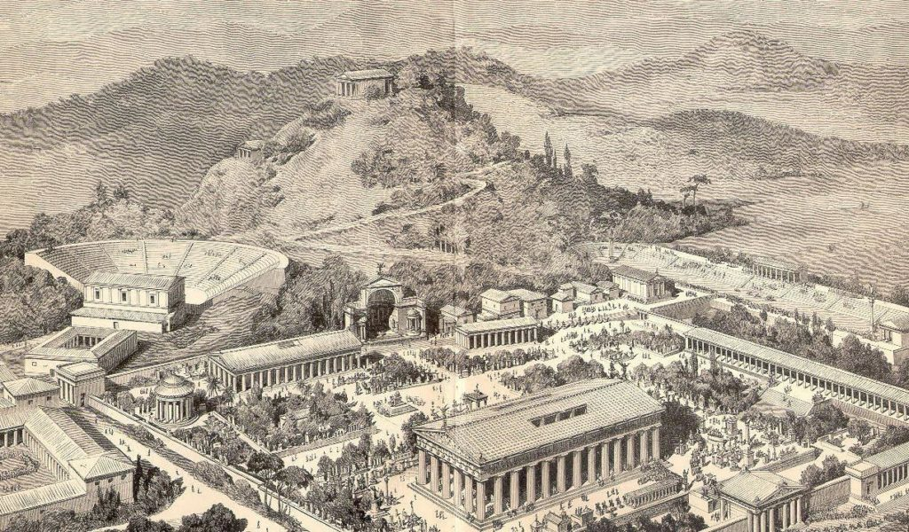Artist impression of Ancient Olympia