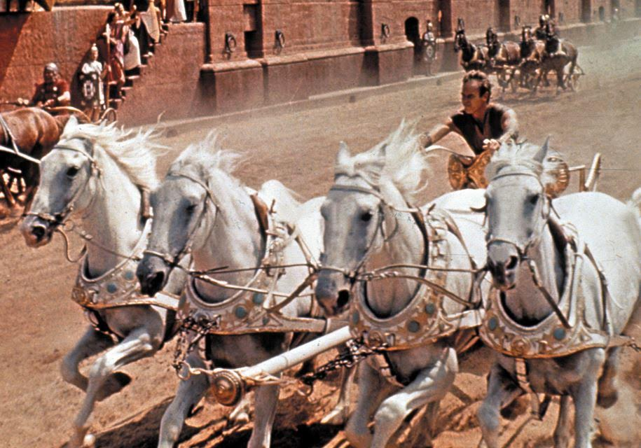 The Chariot Race scene from the movie Ben Hur