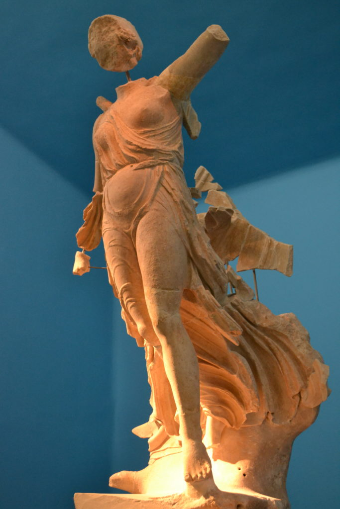 Statue of Nike, Goddess of Victory in the Archaeological Museum of Ancient Olympia