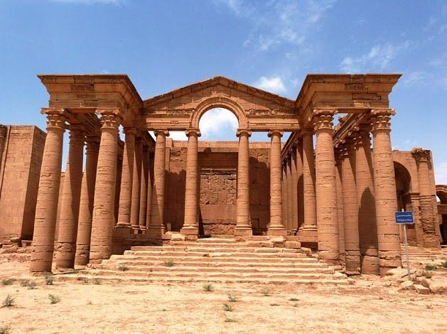 One of Hatra's many magnificent temples