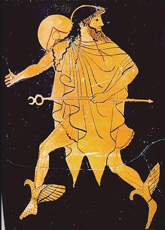 The God Hermes running