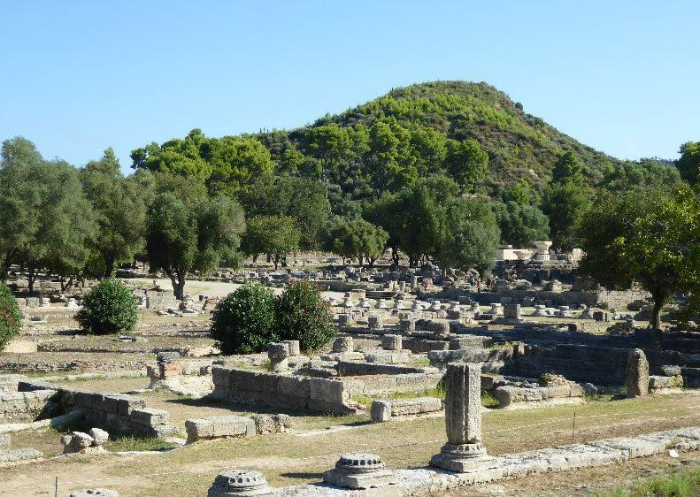 Hill of Kronos overlooking sanctuary of Olympia