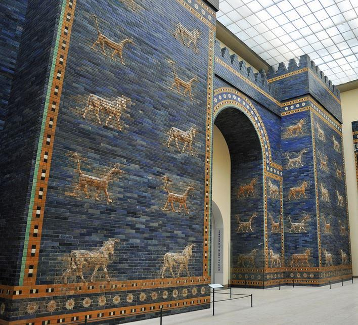 Ishtar Gate of Babylon at Pergamon Museum Berlin