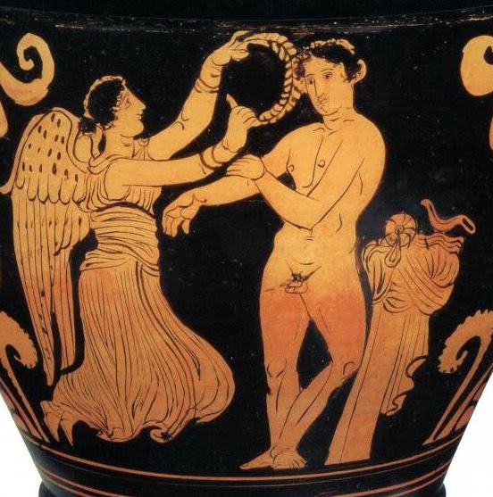 Nike, Goddess of Victory, Crowning an Olympic Victor