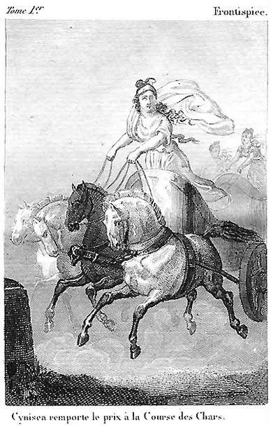 Old print of Kyniska