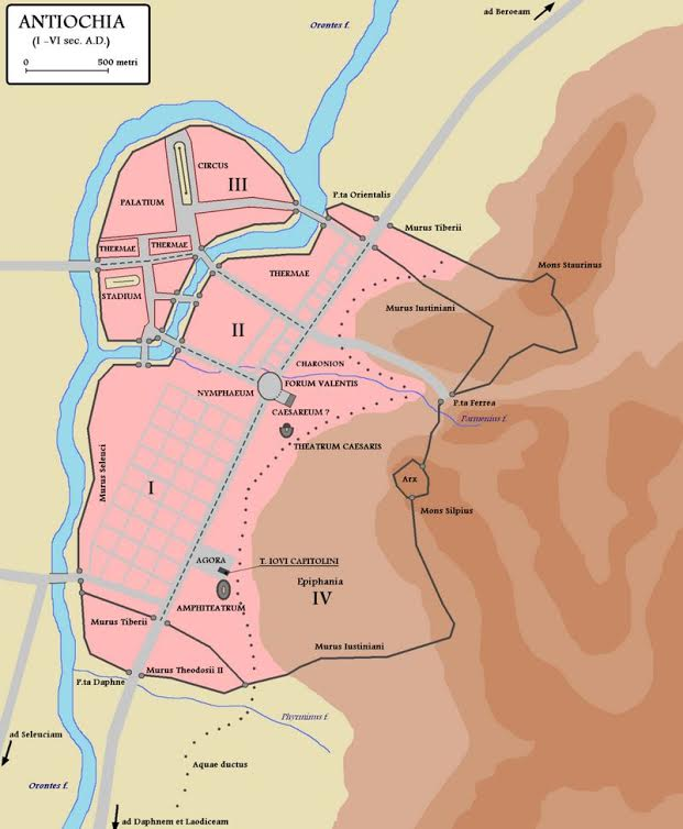 Roman Antioch map