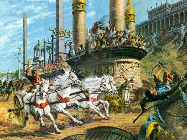 Roman Chariot Race in the Circus Maxiums