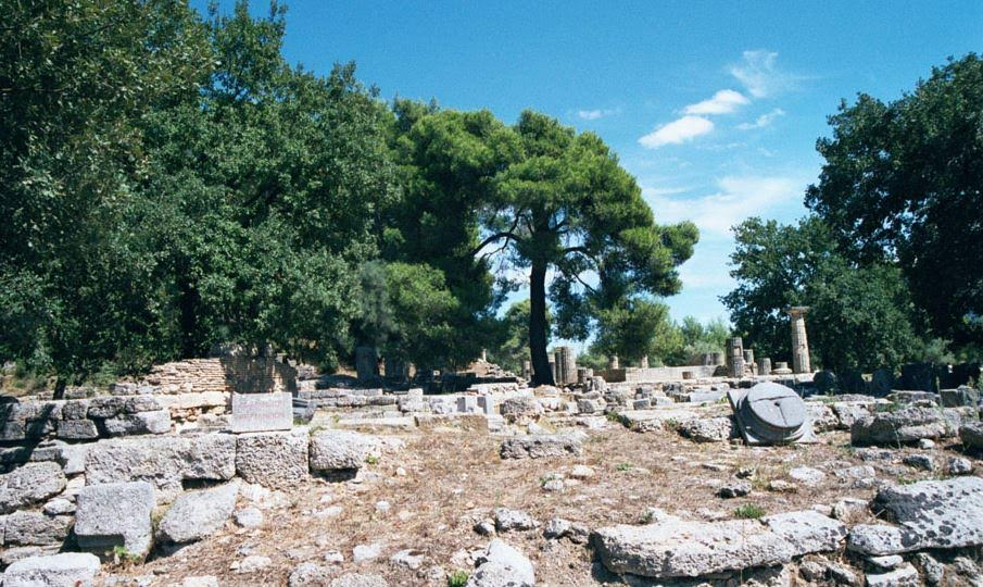 Ruins of the Prytaneion of Olympia
