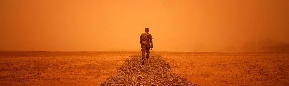 Trooper in modern Iraq