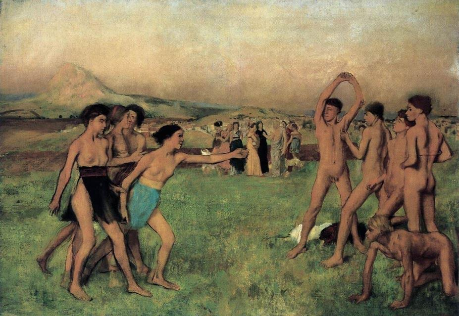 Young Spartans Exercising (Edgar Degas)