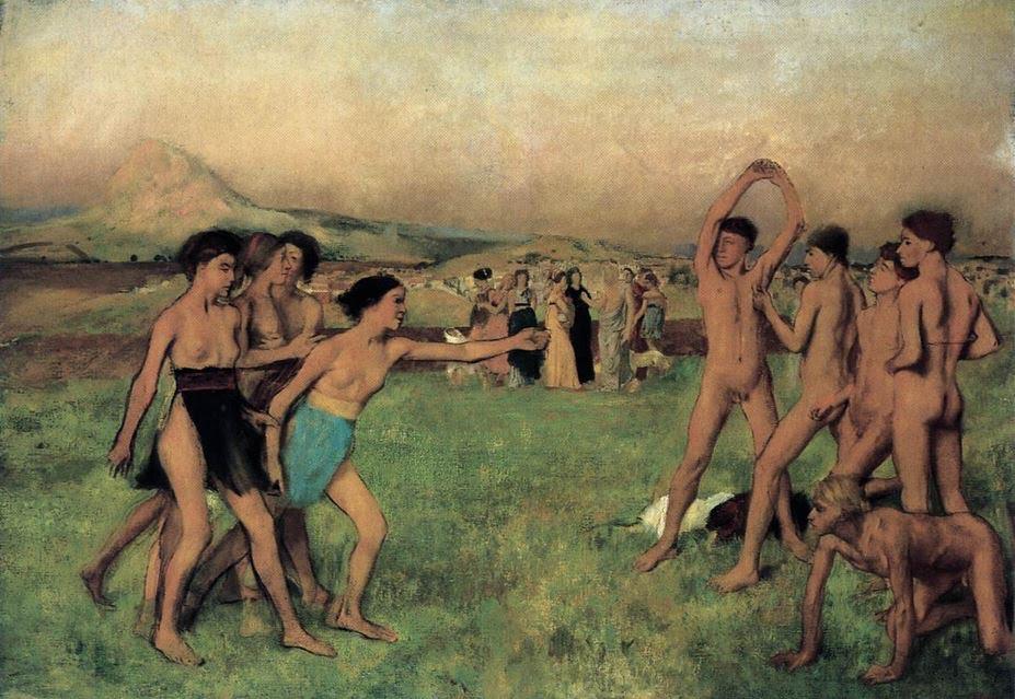 Young Spartans Exercising (Edgar Degas)