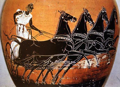 ancient greek chariot.