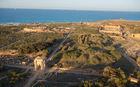 Aerial view of Leptis Magna