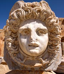 Gorgon head from the Forum of Leptis Magna