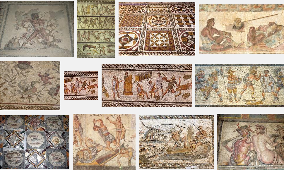 An magnificent array of more Leptis Magna mosaics