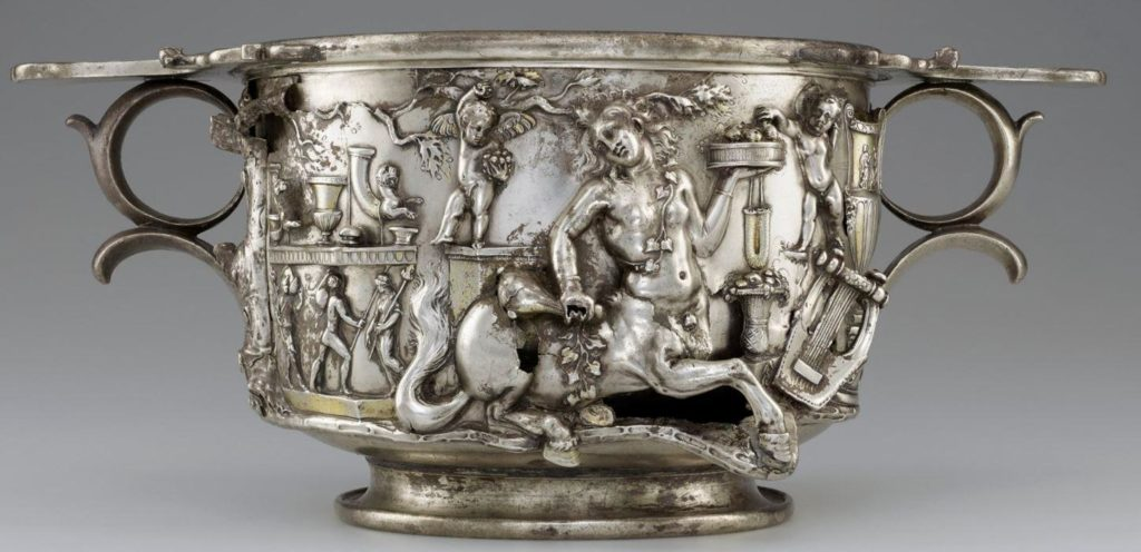 Roman Silver cup from Berthouville Treasure