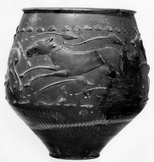 Roman black ware cup, or 'Castor Ware'