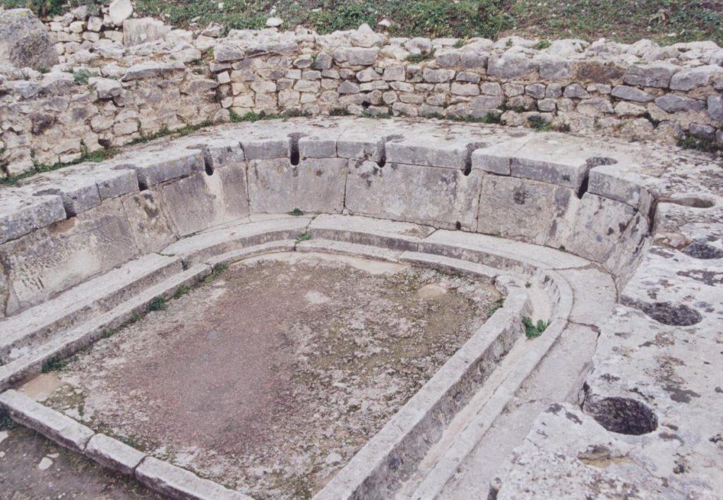 A public latrine in Thugga