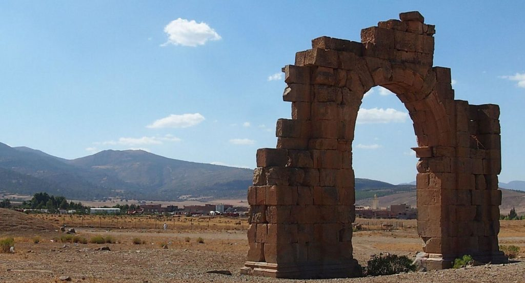 remains-of-an-arch-of-commodus-at-lambaesis