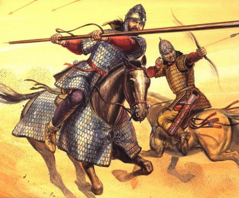 Artist impression of Sarmatian Cavalry