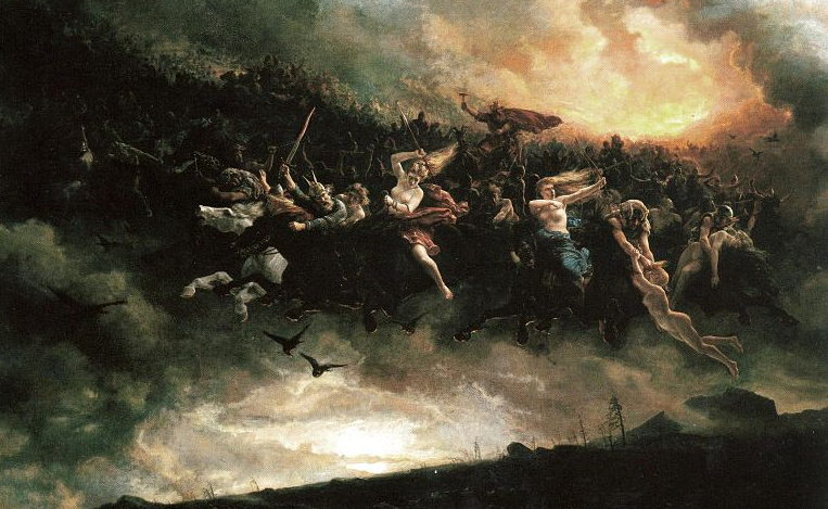 The Wild Hunt 1872 by Peter Nicolai Arbo