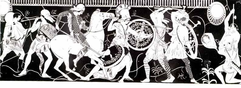 Amazons in battle
