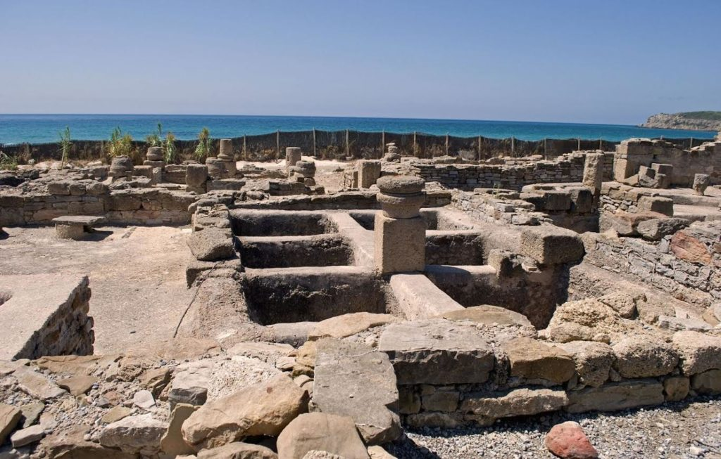 Ruins of a garum factory in Spain