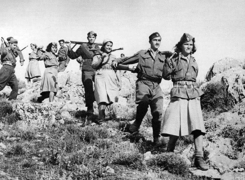 Greek Resistance fighters in WWII