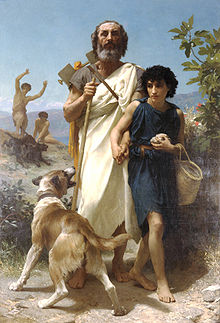 Homer and his Guide - William Adolphe Bouguereau 1874