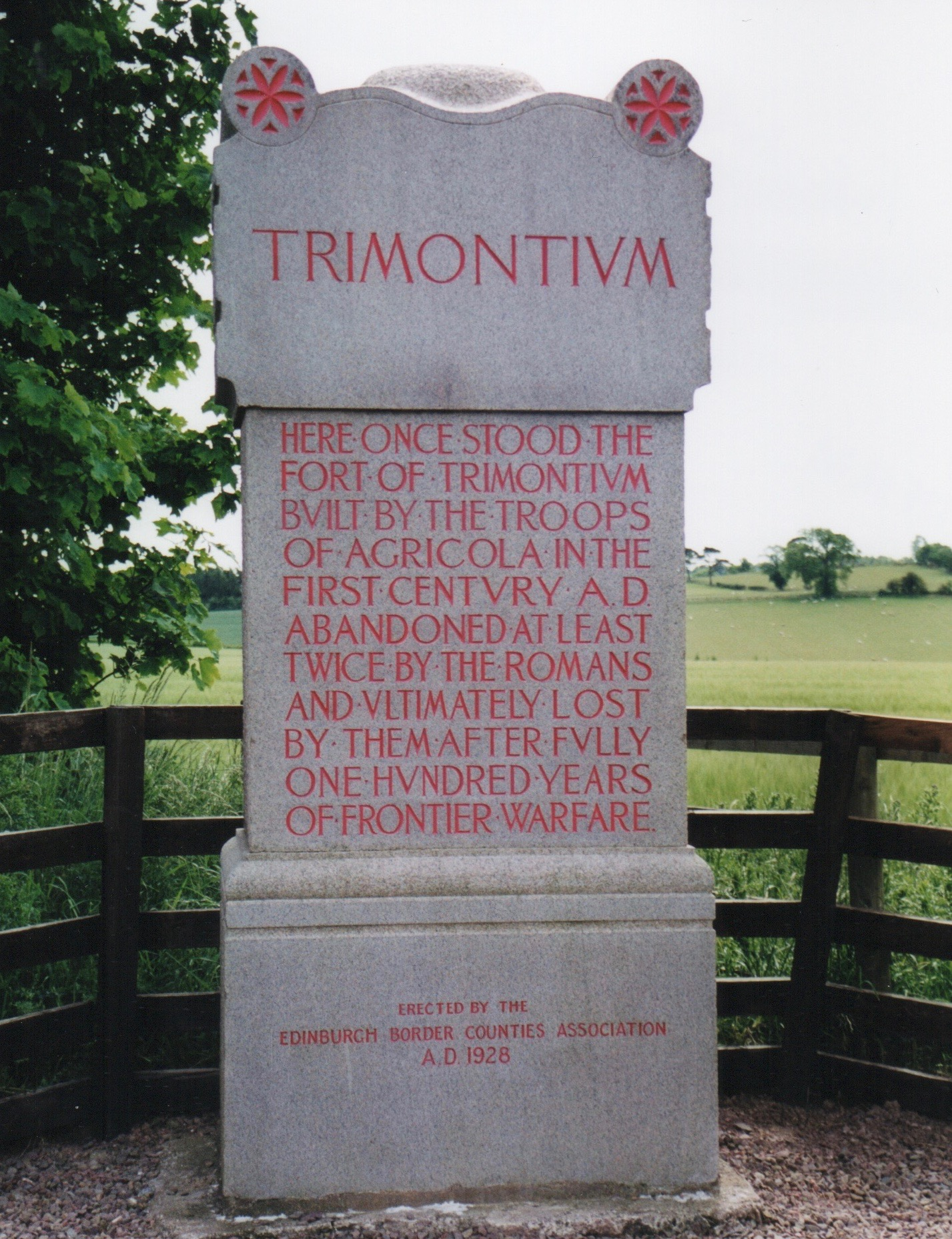 It Is In During This Campaign That The Fort At Trimontium, And Many Others  Were Established In The Borders